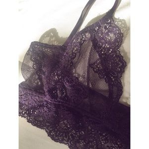 Only Hearts Intimates & Sleepwear - Lacy purple Only Hearts bralette